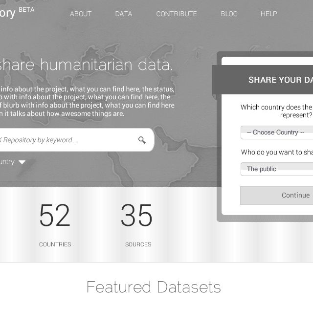UN Humanitatrian Data Sharing Website
