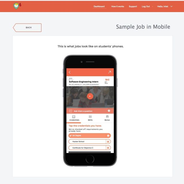 Job Matching iPhone App & Web Backend