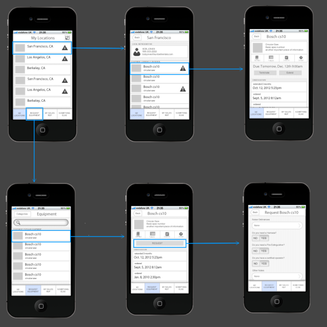 Heavy Machinery User Research & iPhone App