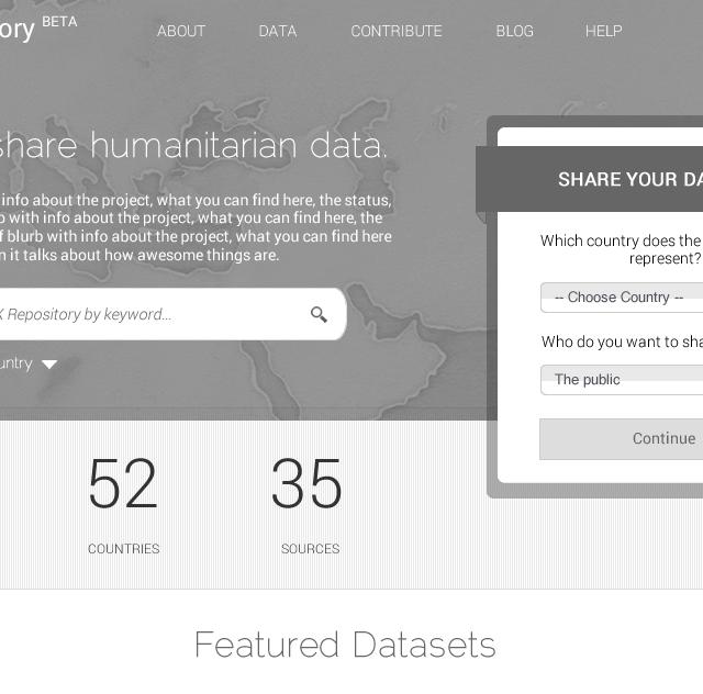 UN Humanitatrian Data Sharing Website